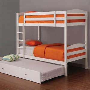 Versailles boys twin twin bunk bed optional trundle and for Boys twin bed with storage