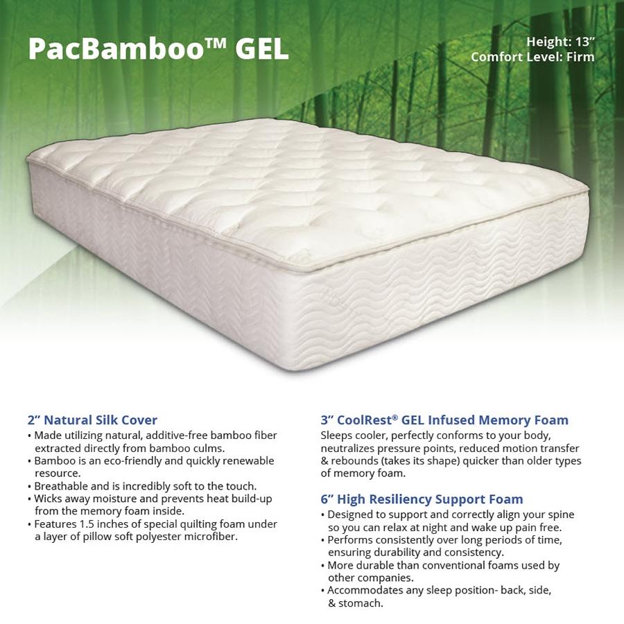 Pacbamboo Plus 13 Memory Foam Mattress