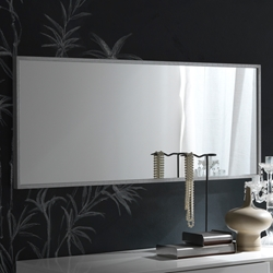 Irwin Mirror With a crocodile-pattern leather border, the Irwin Mirror brings form and function into one highly modern accent piece. Available to you in black, ebony, or white.