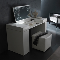 Irwin Dressing Table The Irwin Dressing Table provides you and your bedroom with the epitome of modern living. Its high gloss finish in your choice of white, ebony, or black brings contemporary trends with a stunning look.