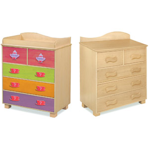 Tea Party Dresser Your little girl will have her tea party in no time with our Tea Party Dresser.