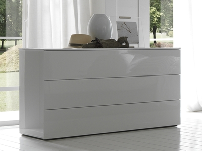 Nuvola Dresser With four spacious drawers for all your storage needs, the Nuvola Dresser starts with functionality in mind and ends with simple style that makes it great for matching any modern style dcor.