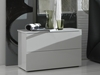 Nuvola Nightstand With two spacious drawers for all your storage needs, the Nuvola Nightstand starts with functionality in mind and ends with simple style that makes it great for matching any modern style dcor.