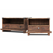 Kobe Nightstands Asian platform beds