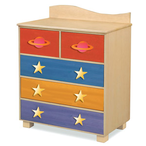 Space Cadet Dresser Stow away space dust and ship parts for your intergalactic journey with the Space Cadet Dresser.