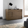 Copernicus Walnut Dresser Here to provide you with a funky, modern style storage space, the Copernicus Walnut Dresser blends right into any modern setting. It provides you with four large drawers with a soft-close feature for functionality and durability.