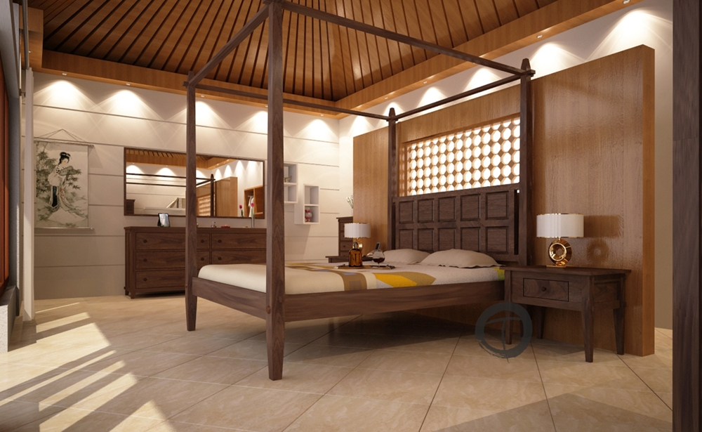 tropical canopy platform bed modern mortise tenon joinery joint solid mahogany wood construction how to shop